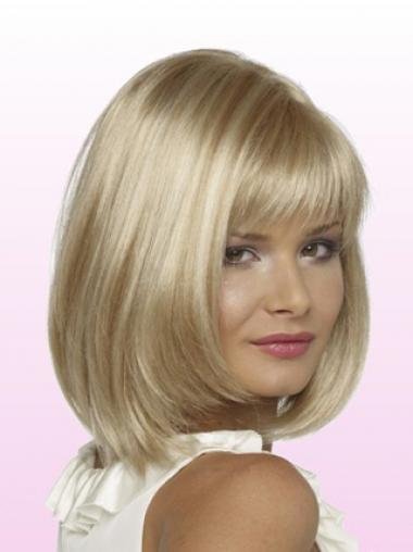 Straight Blonde Bobs Cheap Petite Wigs