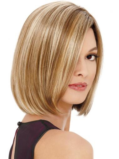 Synthetic Blonde Straight Good Medium Wigs