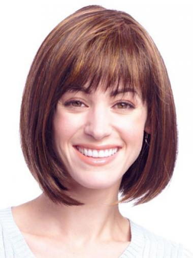 Auburn Synthetic Straight Perfect Medium Wigs