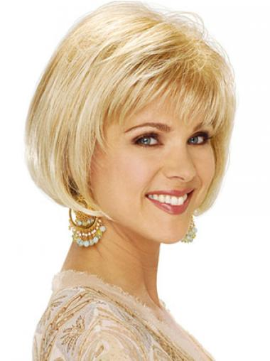 Straight Blonde Bobs Best Classic Wigs