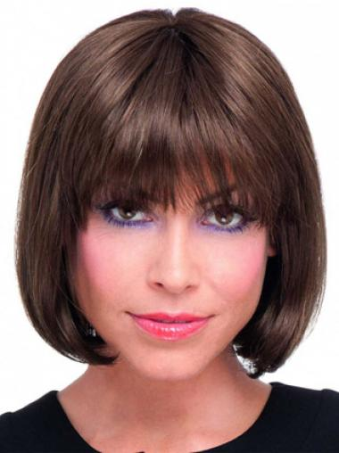 Bobs Auburn Straight Convenient Medium Wigs