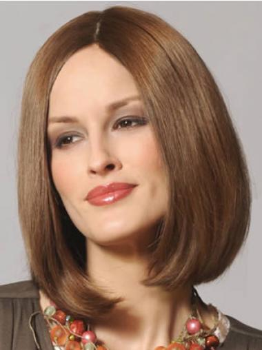 Brown Bobs Straight Sassy Remy Human Lace Wigs