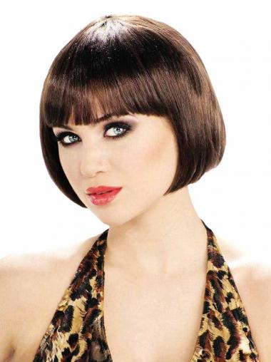 Short Straight Brown Affordable Bob Wigs