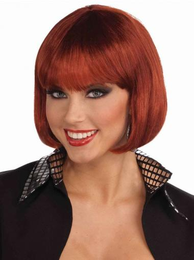 Red Straight Fashionable Bob Wigs