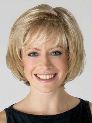 Straight Blonde Bobs Discount Short Wigs
