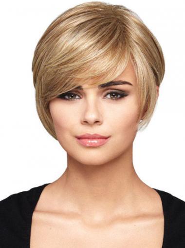 Blonde Straight Soft Bob Wigs