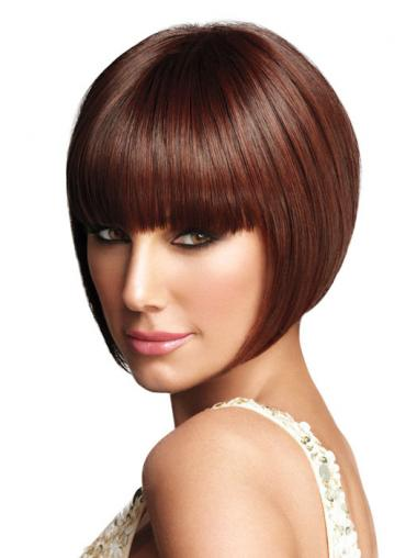 Synthetic Auburn Straight Best Bob Wigs