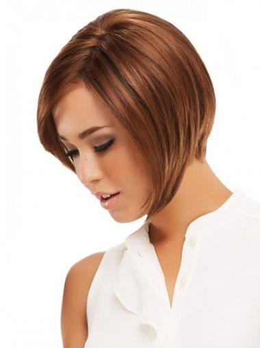 Straight Auburn Bobs Great Lace Front Wigs