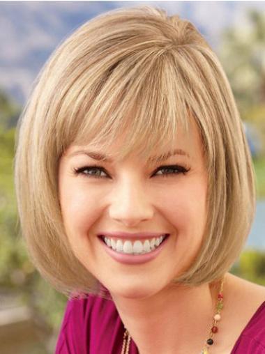 Straight Blonde Bobs Cheapest Medium Wigs