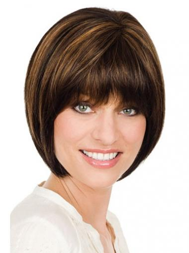 Bobs Straight Brown Gorgeous Medium Wigs