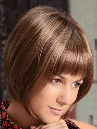 Synthetic Auburn Straight Fabulous Medium Wigs