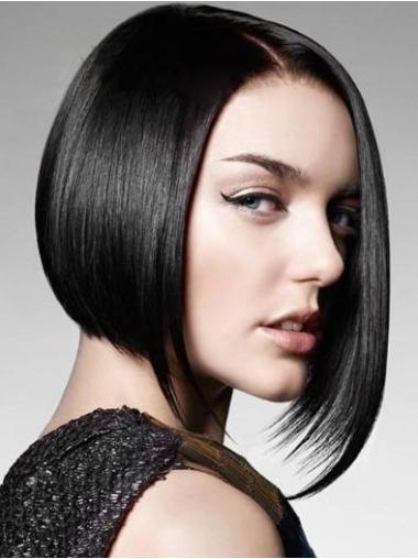 Bobs Black Straight Exquisite Medium Wigs