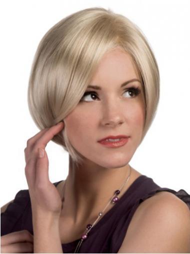 Bobs Blonde Straight Modern Medium Wigs
