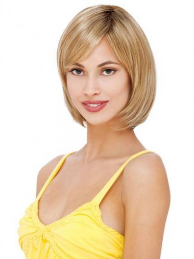 Perfect Blonde Bobs Straight Medium Wigs