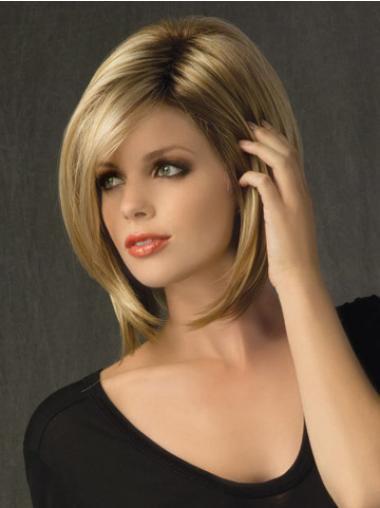 Blonde Bobs Straight Style Medium Wigs