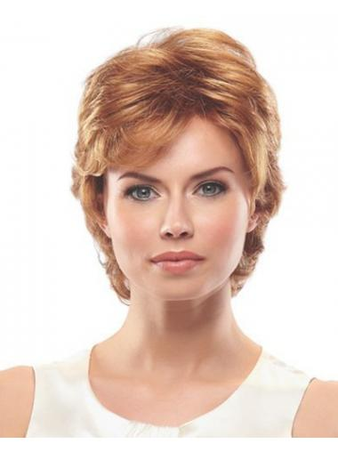 Auburn Layered Wavy New Short Wigs