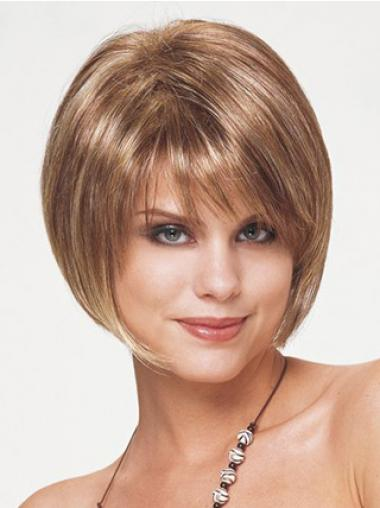 Blonde Bobs Straight Soft Short Wigs