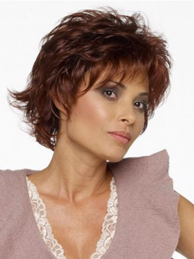 Wavy Auburn Layered Best Short Wigs