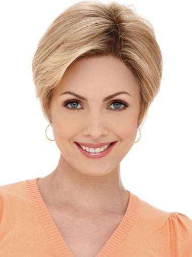 Blonde Layered Straight Soft Petite Wigs