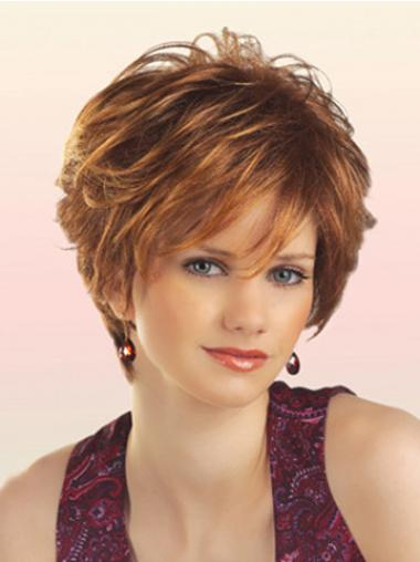 Wavy Auburn Layered Cheapest Short Wigs