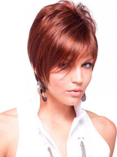 Red Boycuts Straight Affordable Short Wigs