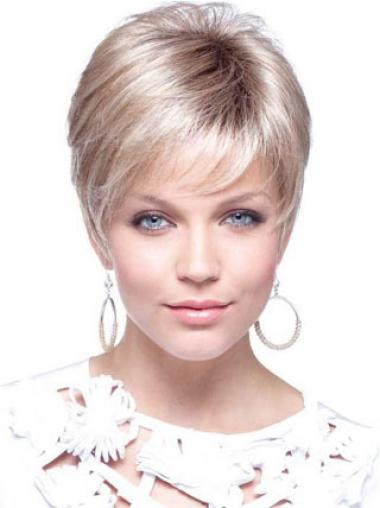 Blonde Boycuts Straight Natural Petite Wigs