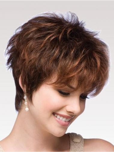 Auburn Boycuts Wavy Ideal Short Wigs