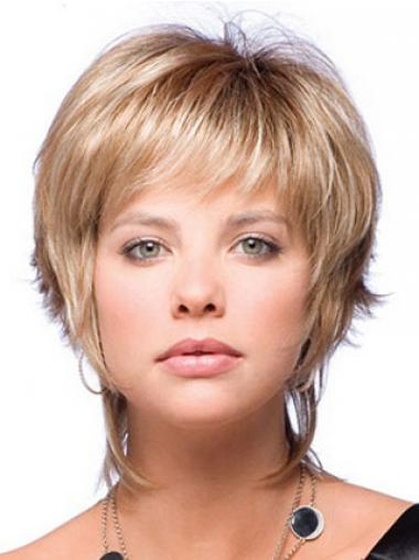 Natural Blonde Boycuts Straight Short Wigs