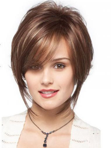 Brown Bobs Wavy Top Short Wigs