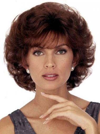 With Bangs Auburn Curly High Quality Classic Wigs