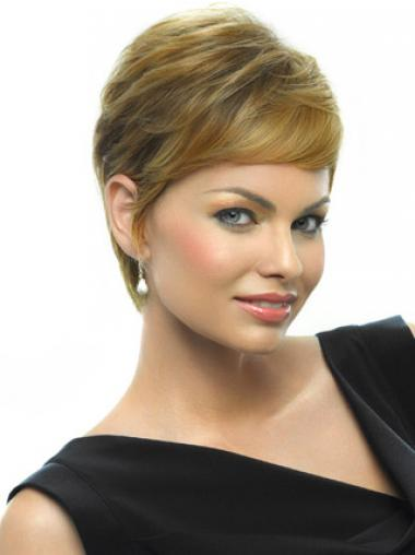 Affordable Blonde Boycuts Straight Short Wigs