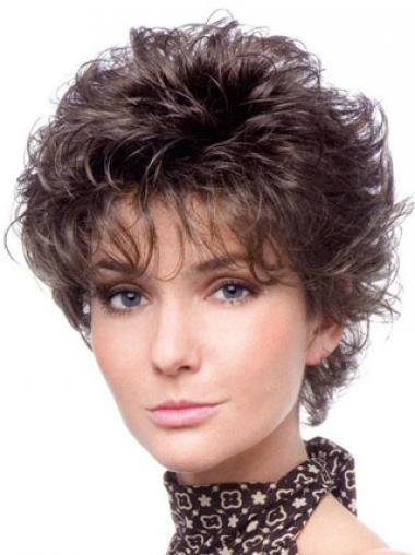 Brown Layered Curly New Classic Wigs