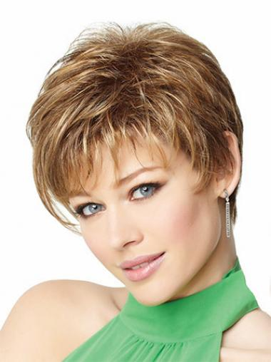 Blonde Boycuts Straight Great Short Wigs