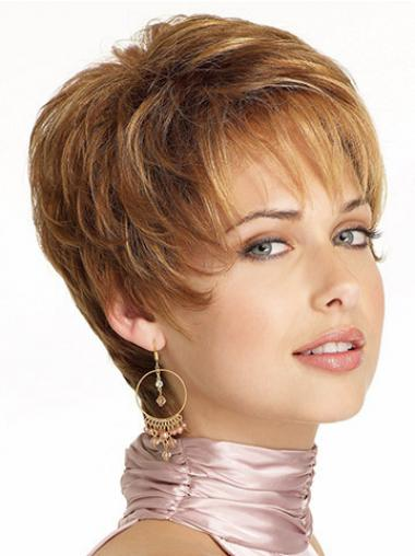 Synthetic Boycuts Wavy Durable Short Wigs