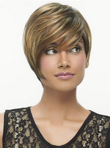 Bobs Straight Brown Amazing Short Wigs