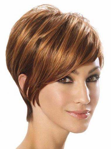Straight Layered Auburn Best Short Wigs
