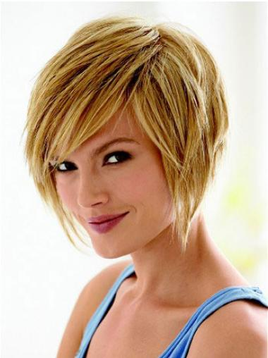 Bobs Blonde Straight Fashionable Short Wigs