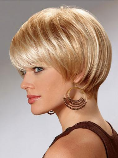 Affordable Straight Blonde Bobs Short Wigs