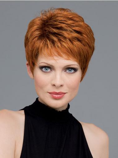 Boycuts Auburn Wavy Affordable Short Wigs