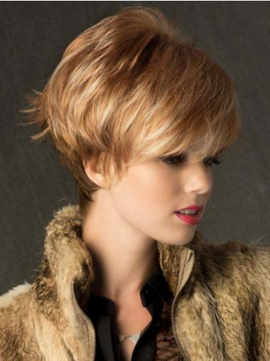 Straight Blonde Boycuts Beautiful Short Wigs