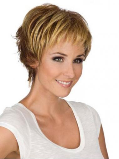 Blonde Boycuts Wavy Perfect Short Wigs