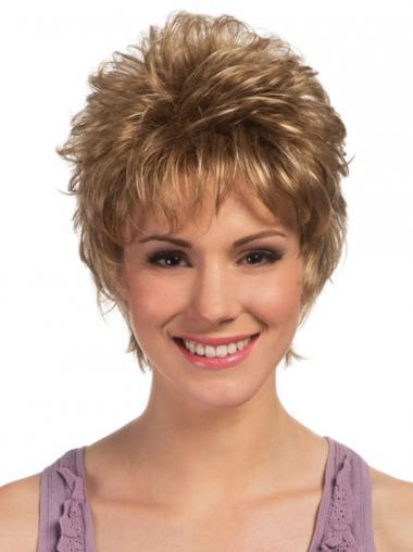 Blonde Boycuts Curly Trendy Petite Wigs