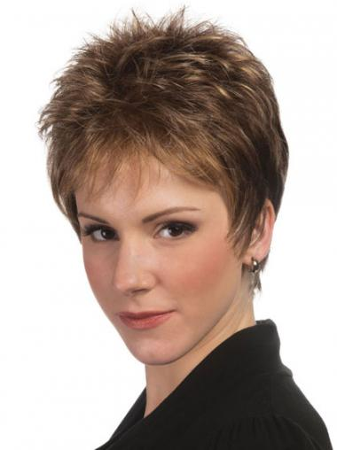 Brown Boycuts Straight Perfect Short Wigs