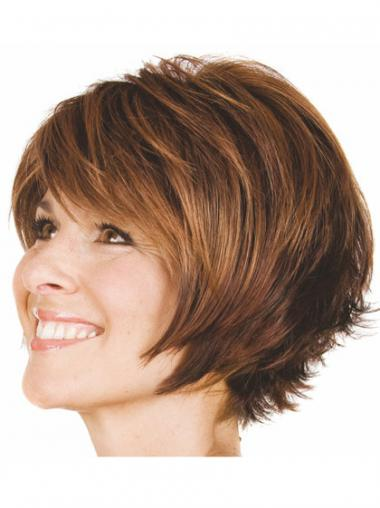 Brown Bobs Wavy Trendy Short Wigs