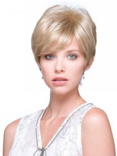 Blonde Boycuts Straight Sleek Short Wigs