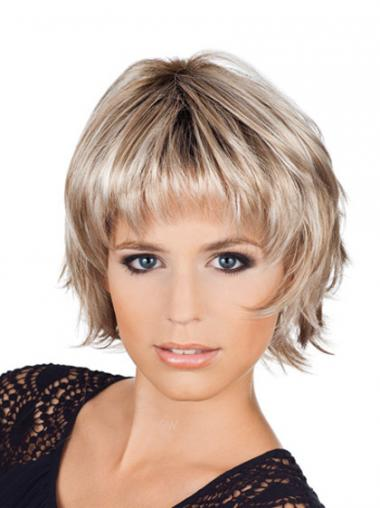 Blonde Bobs Wavy Trendy Short Wigs