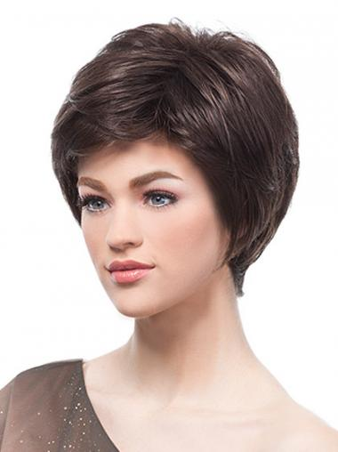 Brown Boycuts Synthetic Modern Short Wigs