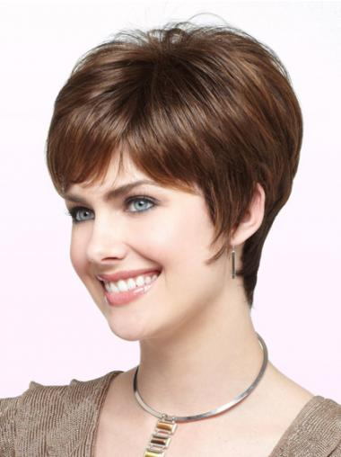 Boycuts Auburn Straight Cheap Short Wigs