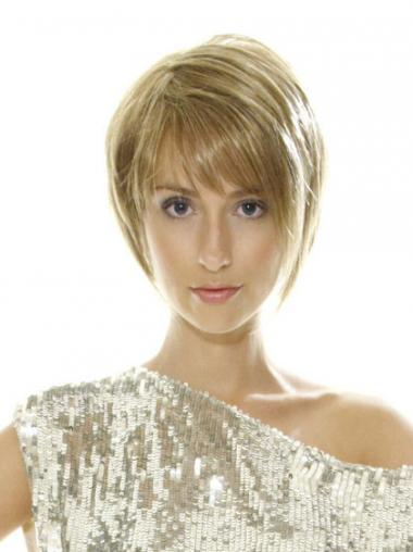Blonde Bobs Straight Natural Short Wigs