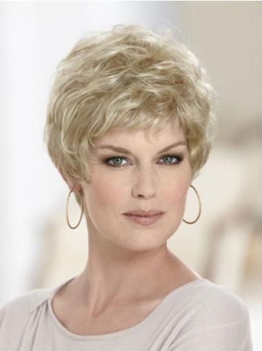 Blonde Boycuts Wavy New Short Wigs